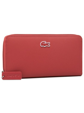 Lacoste Lacoste Portefeuille femme grand format L Zip Wallet NF2900PO Rouge