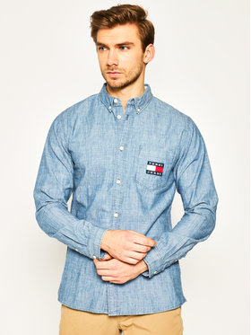 Tommy Jeans Tommy Jeans Πουκάμισο Tjm Chambray DM0DM07922 Μπλε Regular Fit
