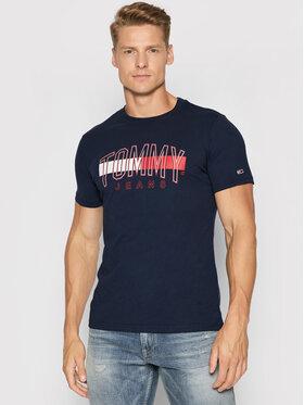 Tommy Jeans Tommy Jeans T-shirt Flag DM0DM09717 Bleu marine Regular Fit