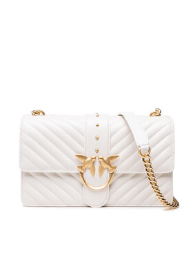 Pinko Pinko Дамска чанта Love Classic Icon V Quilt 3 Cl. AI 21-22 PLTT 1P22BT Y7FY Бял