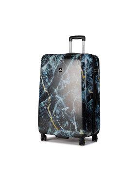 Saxoline Saxoline Veľký pevný škrupinový kufor Trolley L Marble 1439H0.71.10 Čierna