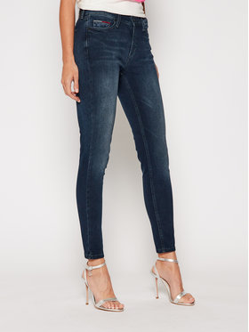 Tommy Jeans Tommy Jeans Blugi Skinny Fit Nora DW0DW09049 Bleumarin Skinny Fit
