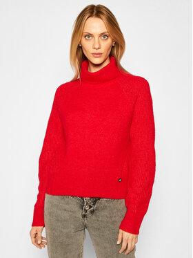 Calvin Klein Jeans Calvin Klein Jeans Rollkragenpullover J20J214822 Rot Relaxed Fit
