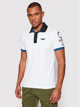 Aeronautica Militare Aeronautica Militare Polo marškinėliai 211PO1517P173 Balta Slim Fit