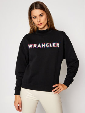 Wrangler Wrangler Felpa High Neck W6P8HY100 Nero Regular Fit
