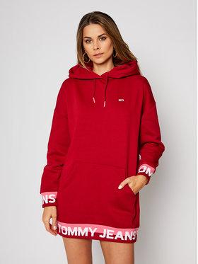 Tommy Jeans Tommy Jeans Sukienka dzianinowa Branded Hem DW0DW08886 Czerwony Regular Fit