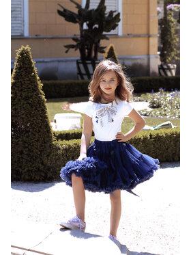LaVashka LaVashka Spódnica 25-B Granatowy Regular Fit