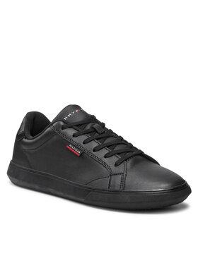 Tommy Hilfiger Tommy Hilfiger Sportcipő Essential Leather Cupsole FM0FM03750 Fekete