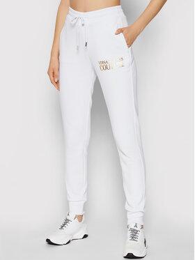 Versace Jeans Couture Versace Jeans Couture Spodnie dresowe Logo Foil 71HAAT04 Biały Regular FIt