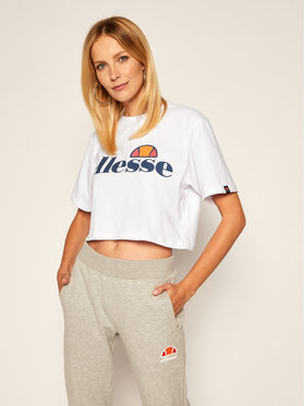 Ellesse Ellesse T-Shirt Alberta SGS04484 Λευκό Cropped Fit