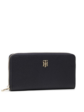 Tommy Hilfiger Tommy Hilfiger Великий жіночий гаманець Th Soft Large Za Wallet AW0AW10221 Cиній