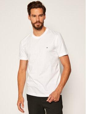 Calvin Klein Calvin Klein Marškinėliai Embroidery K10K104061 Balta Regular Fit