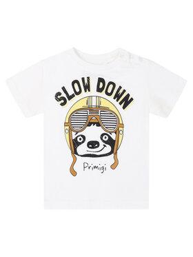 Primigi Primigi T-Shirt Fast Rider 45221006 Biały Regular Fit