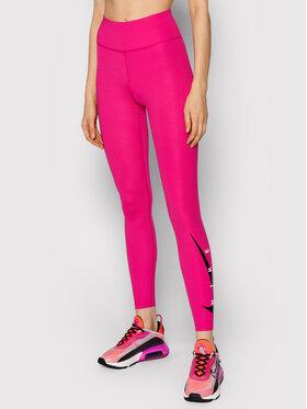 Nike Nike Leggings Swoosh Run DA1145 Rózsaszín Tight Fit