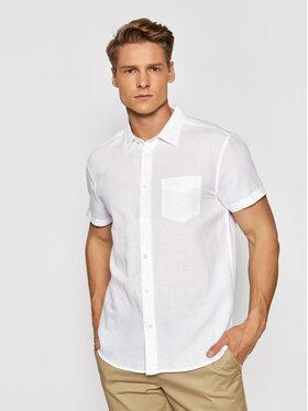Wrangler Wrangler Риза Ss 1 Pkt W5J7LO989 Бял Regular Fit