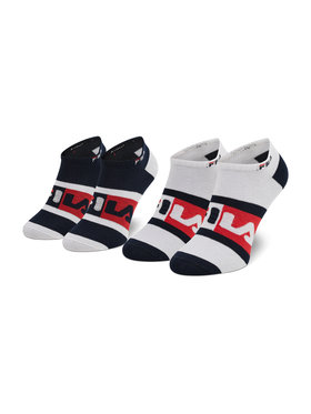 Fila Fila Sada 2 párů nízkých ponožek unisex Calza Invisibile F9623 Tmavomodrá