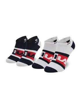 Fila Fila Súprava 2 párov kotníkových ponožiek unisex Calza Invisibile F9623 Tmavomodrá