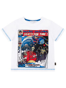 Little Marc Jacobs Little Marc Jacobs T-shirt W25416 Bianco Regular Fit