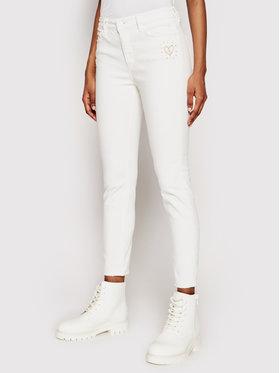 Desigual Desigual Jeansy Alba 21SWDD10 Biały Skinny Fit