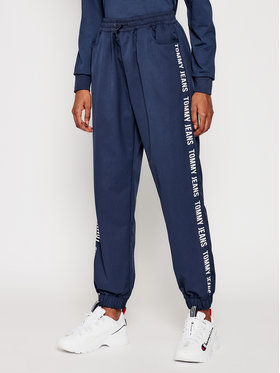 Tommy Jeans Tommy Jeans Pantaloni trening Jogger Tape DW0DW10141 Bleumarin Relaxed Fit