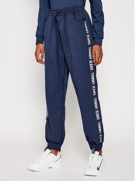 Tommy Jeans Tommy Jeans Sportinės kelnės Jogger Tape DW0DW10141 Tamsiai mėlyna Relaxed Fit