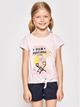 Billieblush Billieblush Marškinėliai U15852 Rožinė Regular Fit