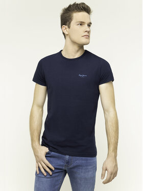 Pepe Jeans Pepe Jeans T-Shirt Orginal Basic PM503835 Tmavomodrá Slim Fit