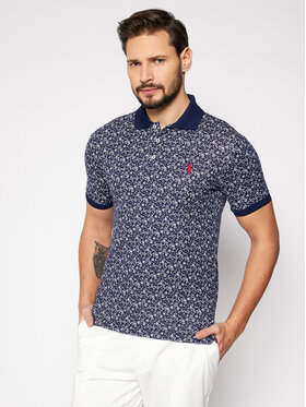 Polo Ralph Lauren Polo Ralph Lauren Тениска с яка и копчета Classics 2 710835218001 Тъмносин Slim Fit