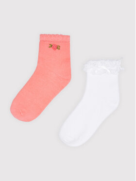 Mayoral Mayoral Комплект 2 чифта къси чорапи детски 10056 Розов