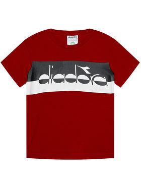 Diadora Diadora T-Shirt 5Palle 102.176497 Czerwony Regular Fit