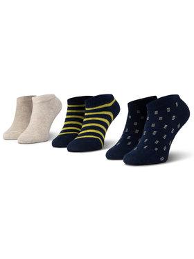 Mayoral Mayoral Sada 3 párů dětských nízkých ponožek 10734 Tmavomodrá