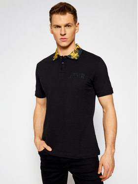 Versace Jeans Couture Versace Jeans Couture Тениска с яка и копчета B3GWA7T2 Черен Slim Fit
