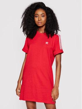 adidas adidas Ежедневна рокля adicolor Classics Roll-Up GN2778 Червен Loose Fit