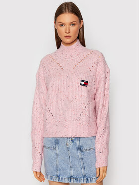 Tommy Jeans Tommy Jeans Dolcevita Tjw Soft Neps DW0DW10998 Rosa Loose Fit