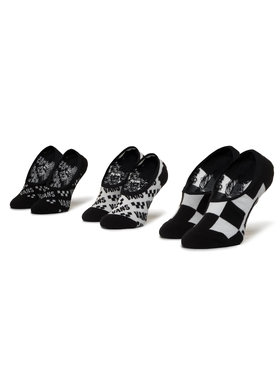 Vans Vans Set de 3 perechi de șosete scurte pentru copii Brand Striper Canoodles VN0A4DS84481 r.31.5-36 Negru