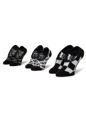 Vans Vans Σετ κάλτσες σοσόνια παιδικές 3 τεμαχίων Brand Striper Canoodles VN0A4DS84481 r.31.5-36 Μαύρο