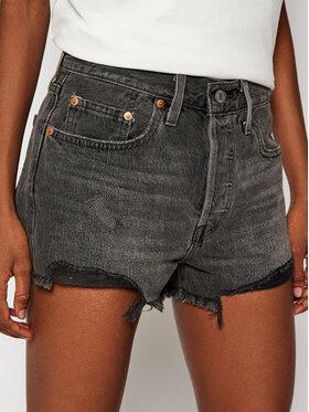 Levi's® Levi's® Kratke traperice 501 High Rise 56327-0070 Crna Regular Fit