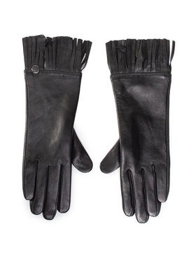 Liu Jo Liu Jo Dámske rukavice Guanto Con Frange 2F0092 P0300 Čierna