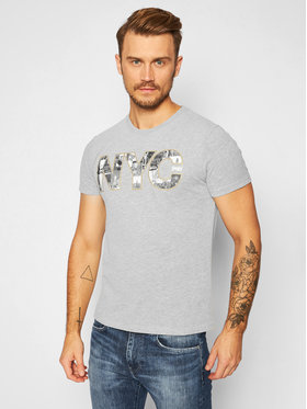 Superdry Superdry T-shirt Vl Nyc Photo Tee M1010347B Grigio Regular Fit