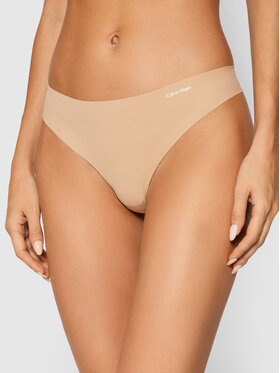 Calvin Klein Underwear Calvin Klein Underwear Stringi 0000D3428E Beżowy
