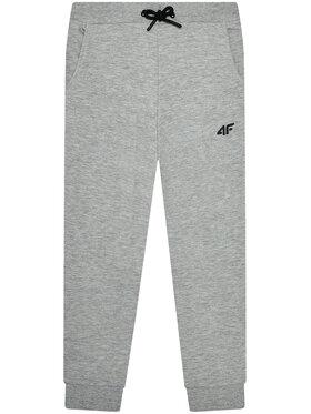 4F 4F Teplákové kalhoty JSPMD001A Šedá Regular Fit