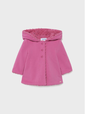 Mayoral Mayoral Cappotto di transizione Reversible 2437 Rosa Regular Fit