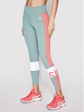 Asics Asics Leggings Color Block 2032A410 Verde Slim Fit