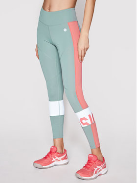 Asics Asics Leggings Color Block 2032A410 Vert Slim Fit