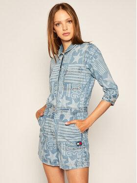 Tommy Jeans Tommy Jeans Salopetă Logo Playsuit DW0DW08616 Albastru Regular Fit