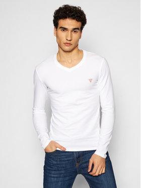 Guess Guess Majica dugih rukava M1RI08 J1311 Bijela Super Slim Fit