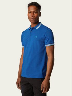 Boss Boss Тениска с яка и копчета Paddy 50398302 Син Regular Fit
