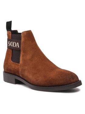 Scotch & Soda Scotch & Soda Členková obuv s elastickým prvkom Picaro 23853396 Hnedá
