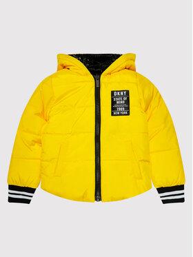 DKNY DKNY Пухено яке D36642 M Жълт Regular Fit