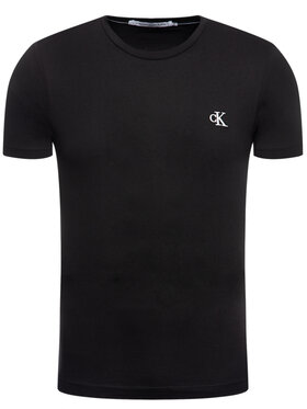 Calvin Klein Jeans Calvin Klein Jeans T-Shirt Tee Shirt Essential J30J314544 Czarny Slim Fit